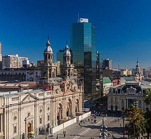 City tour walking in Santiago