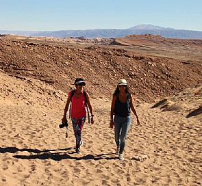 Trekking from La Sal mountain range to San Pedro river