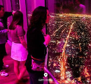 Visit to Sky Costanera, dinner and dancing in a club