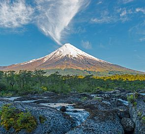 Tour through the Osorno volcano and Petrohué