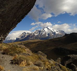 Hiking from Sarmiento lake at Torres del Paine National Park