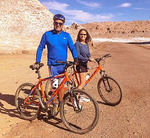 Mountain bike to Laguna Cejar