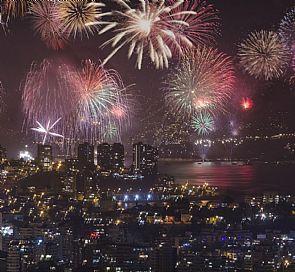 Navegación por Valparaíso en Año Nuevo