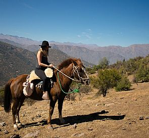 Riding through the Andes Mountains