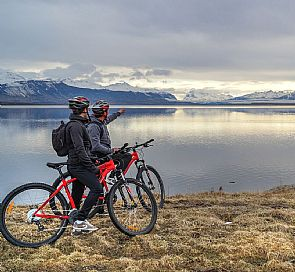 Bike city tour through Puerto Natales
