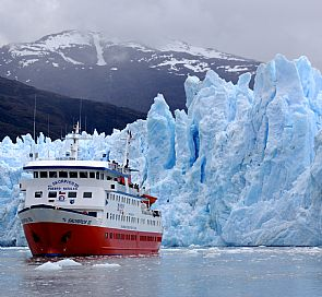Skorpios cruise through fjords and glaciers in Patagonia