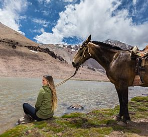 Horseback riding through the Andes