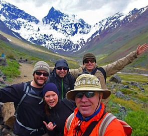 El Morado Glacier excursion in Cajón del Maipo