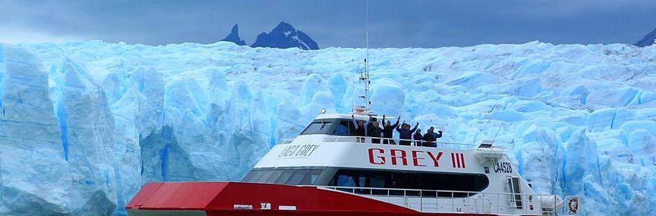Tour de navegación a glaciar Grey