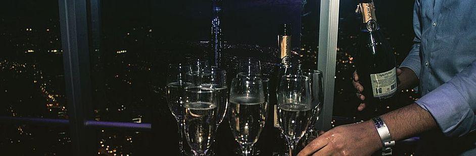 Visita a Sky Costanera, trago en BordeRío y fiesta en un club
