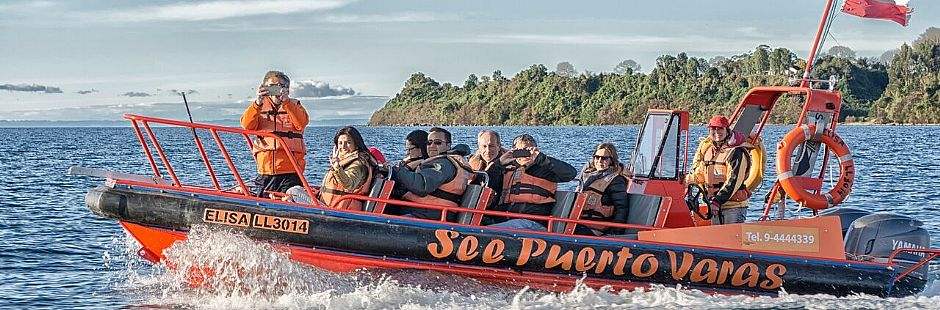 Walking tour around Puero Varas and 1 hour navigation in Llanquihue lake