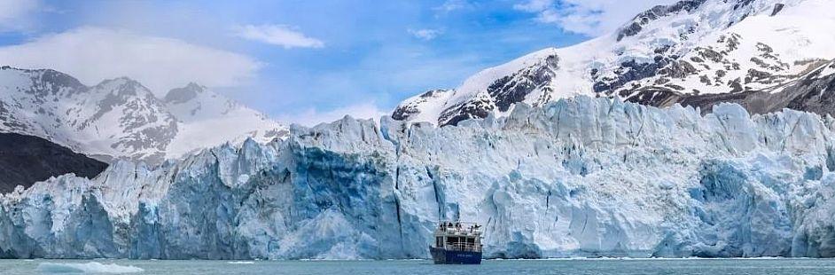 Navegación por el glaciar O'Higgins