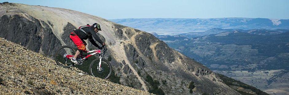 Mountain bike excursion through Cerro Castillo National Park