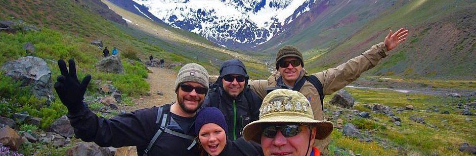 El Morado Glacier excursion in Cajón del Maipo